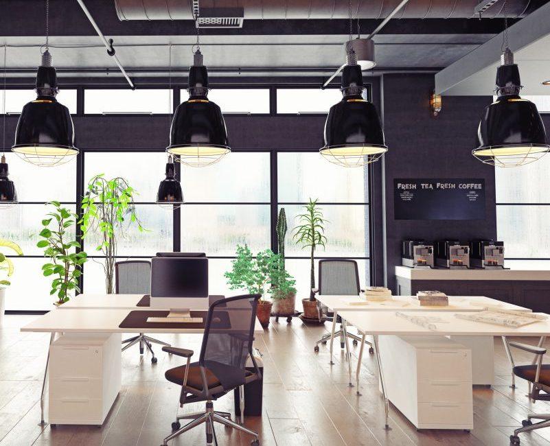 Black & White Office - Designya Architecture Manchester UK.